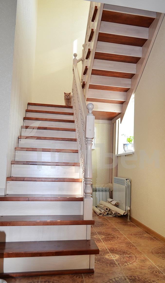 Лестница из п-образного своими руками 17