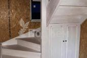 П-образная лестница из ясеня